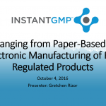 Don't Forget to Register for InstantGMP, Inc.'s Webinar!